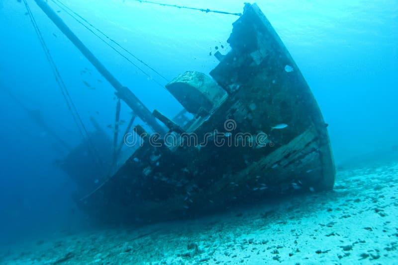 Wooden Shipwreck stock photo