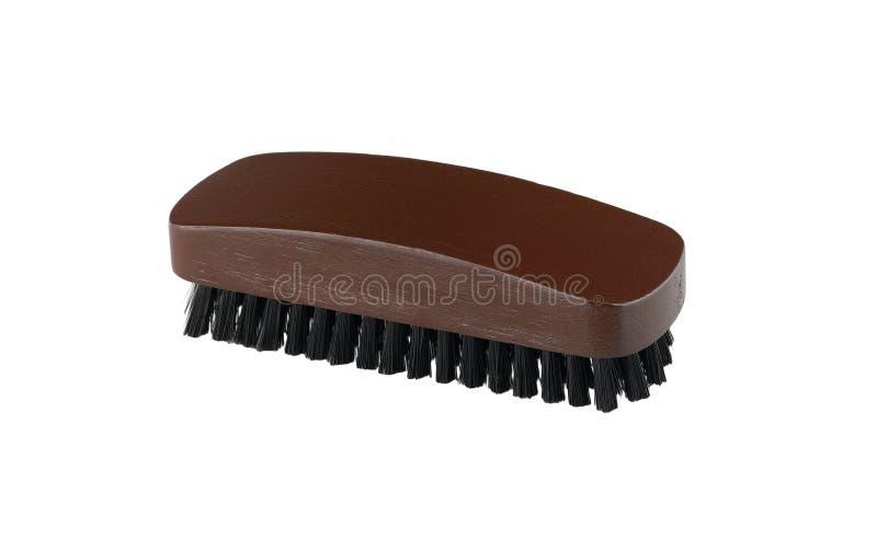 Wooden shoe brush stock photos