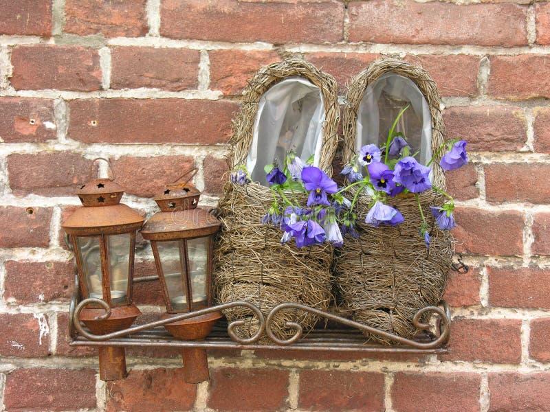 'wooden shoes stock photos