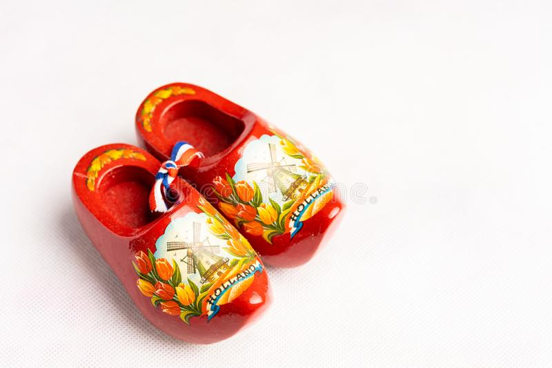 Wooden shoes or clog royalty free stock photo