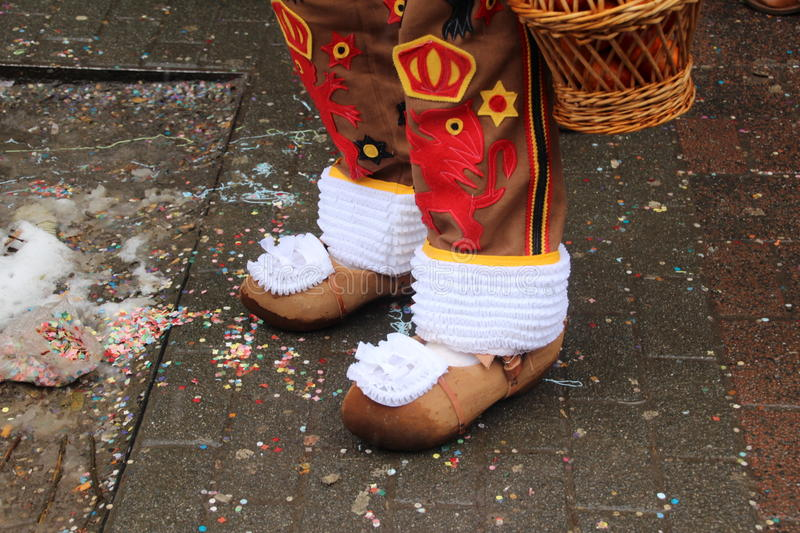 Wooden shoes; royalty free stock image