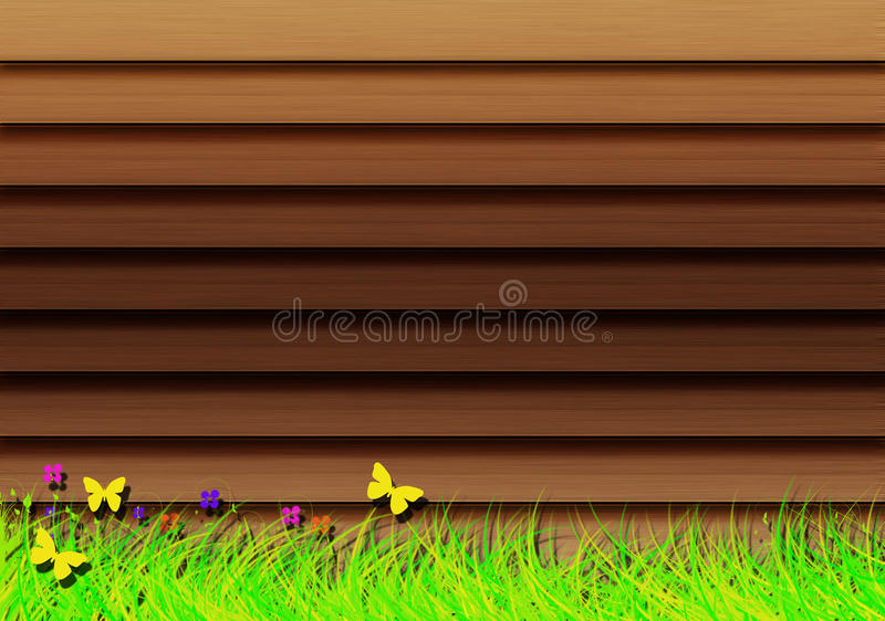 Download Wooden shutters. stock illustration. Illustration of cottage - 32207952