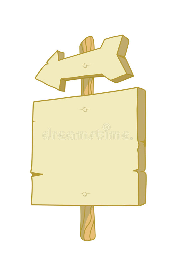 Download Wooden sign with an arrow stock vector. Image of demonstration - 5142671