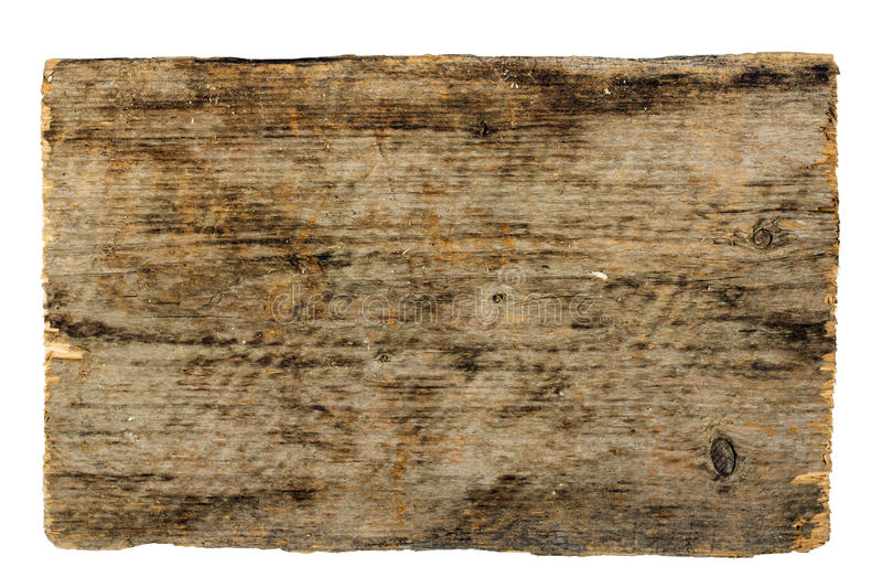 Wooden sign board isolated on white stock photography
