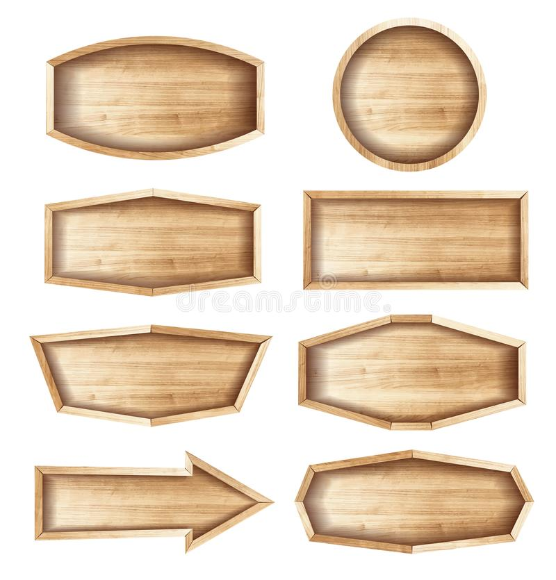 Wooden sign boards for sale,price and discount stock illustration