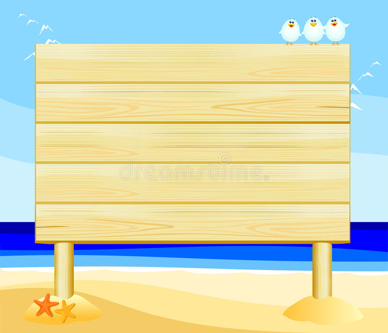 Download Wooden sign customizable stock image. Image of beach - 19206055