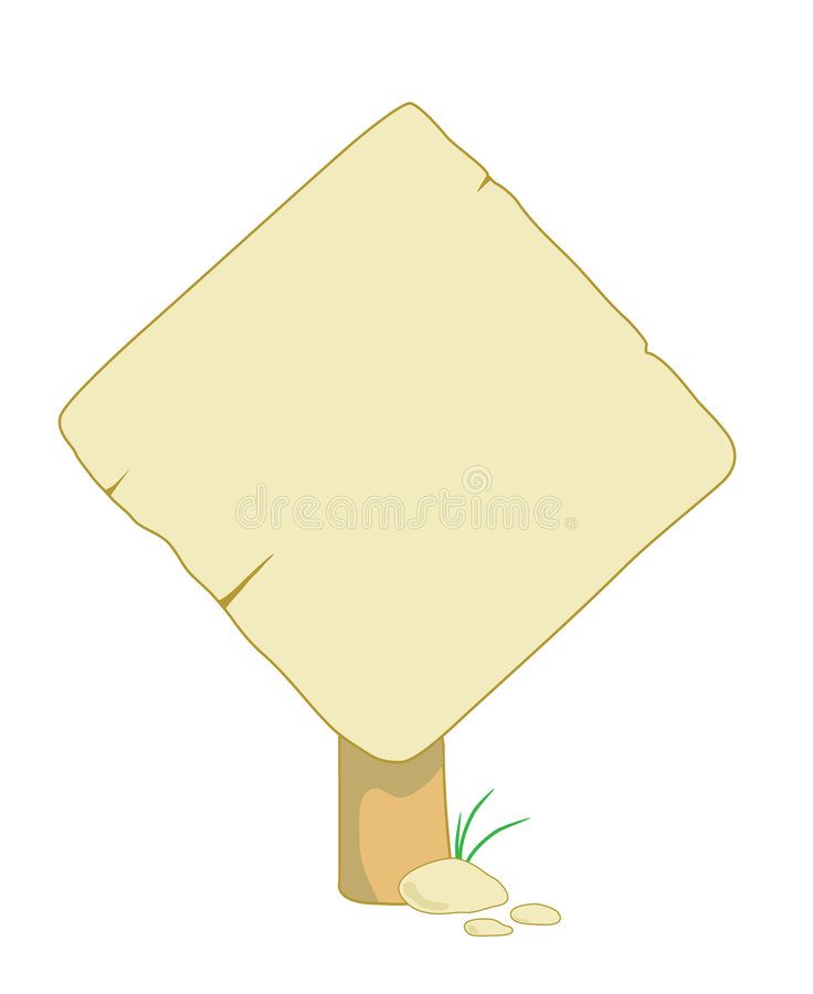 Download Wooden Sign For Information Stock Vector - Image: 5142667