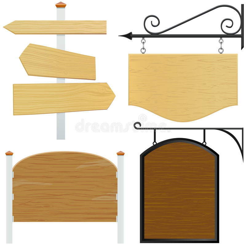Wooden sign vector vector illustration