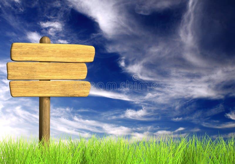 Download Wooden signboard stock illustration. Illustration of single - 24676579