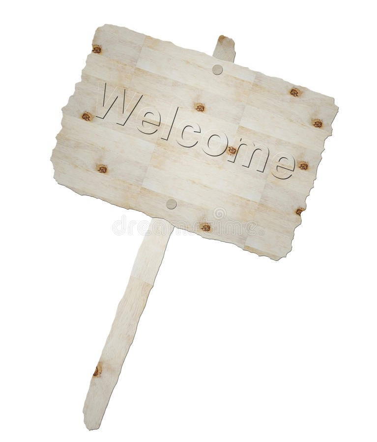 Download Wooden Signboard And Word Welcome Stock Illustration - Illustration: 20069391
