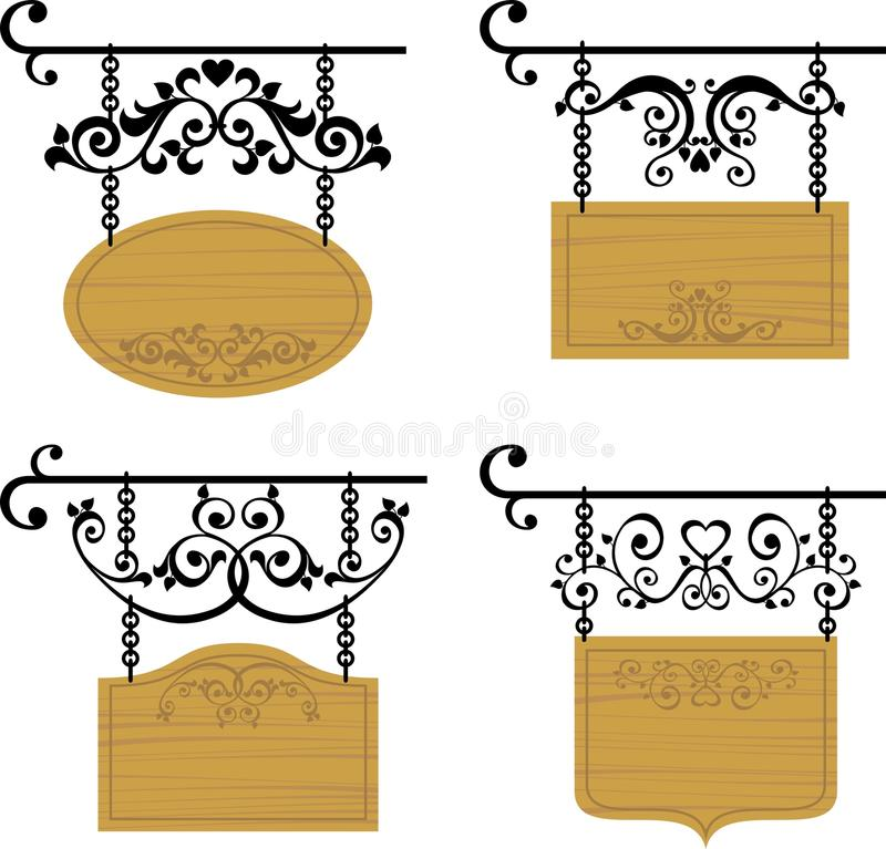 Download Wooden signboards stock vector. Image of heart, background - 19331231
