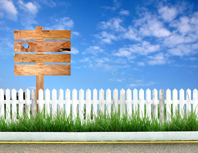Wooden signpost stock image