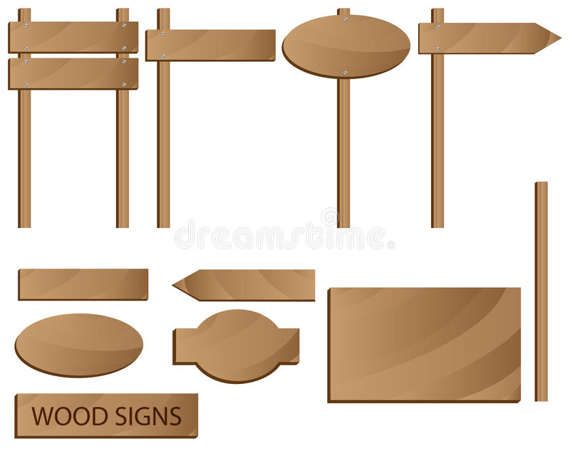 Download Wooden Signs Stock Photo - Image: 14336050