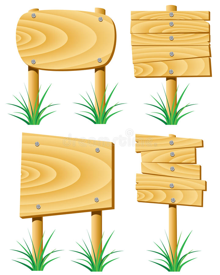 Download Wooden signs stock vector. Image of part, object, direction - 14914597