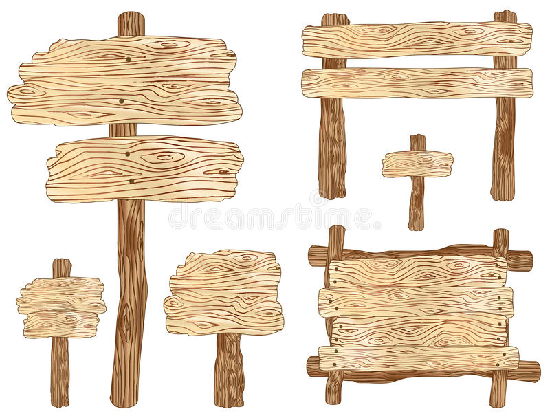 Download Wooden Signs stock vector. Image of sign, wooden, board - 25446809