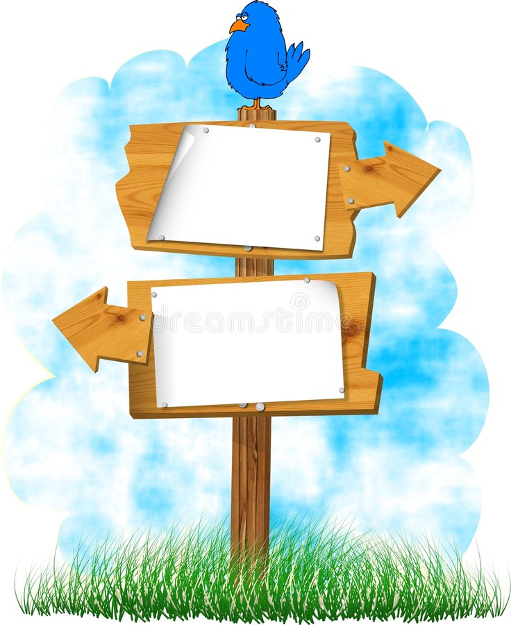 Wooden signs stock illustration