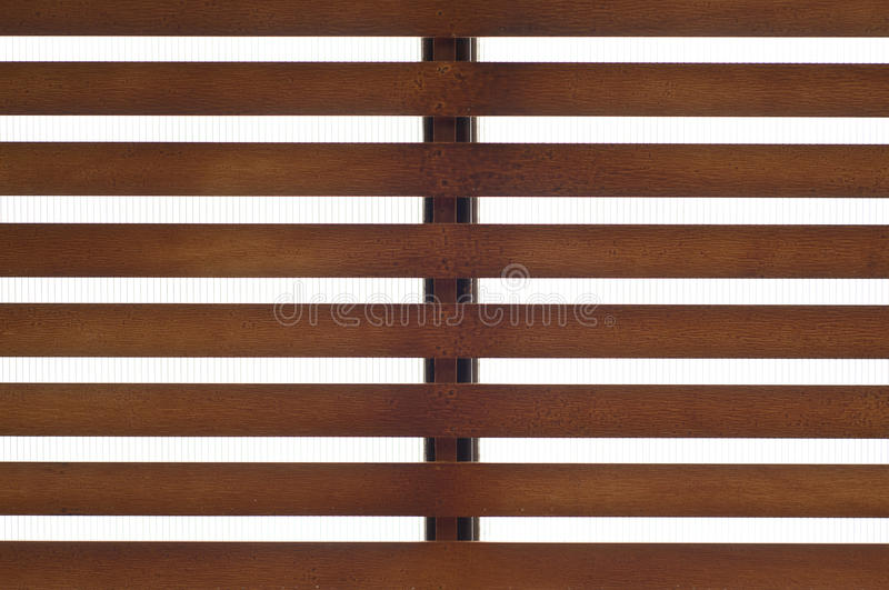 Wooden slat roof. Wooden slat roof with transparent acrylic plastic royalty free stock photos