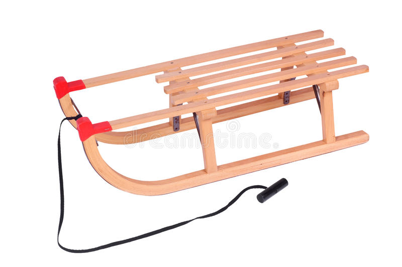 Download Wooden Sled, Isolated Against Background Stock Image - Image: 17496709