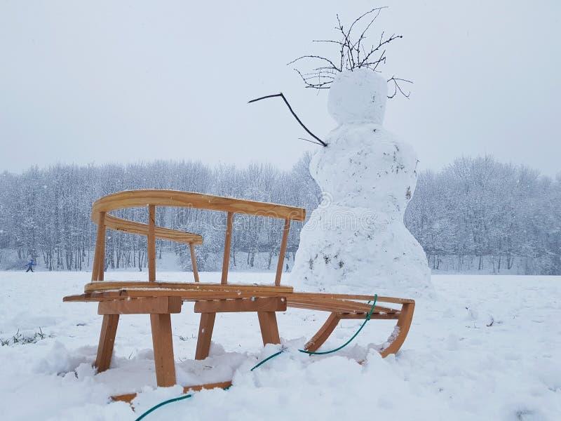 Winter activities stock image