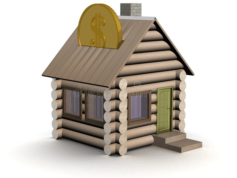 Download Wooden Small House A Coin Box. Stock Photo - Image: 4609080