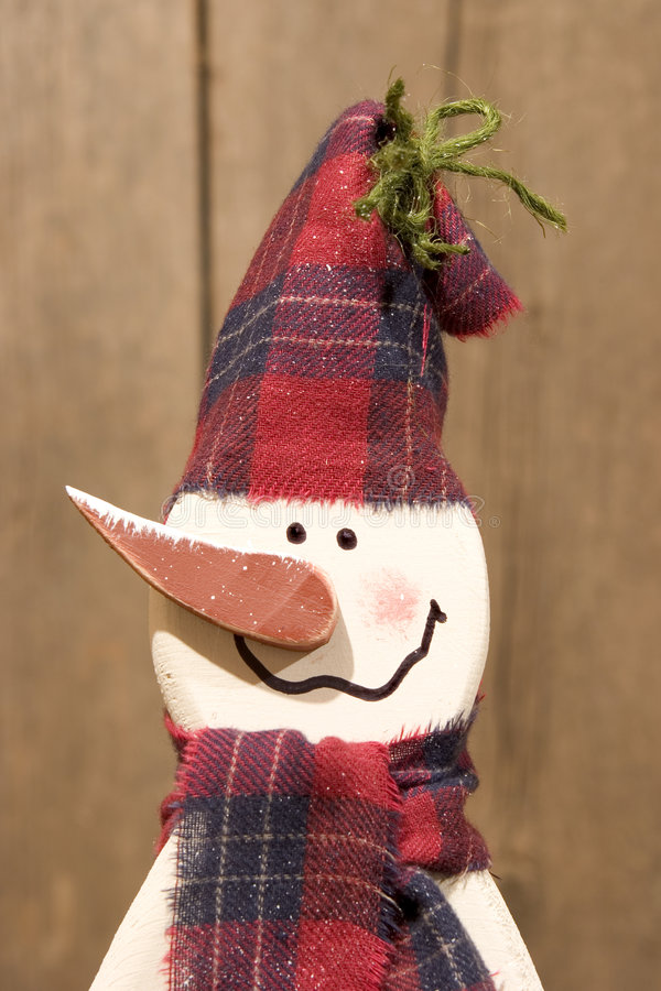 Download Wooden snowman. stock photo. Image of holly, christmas, cane - 42168