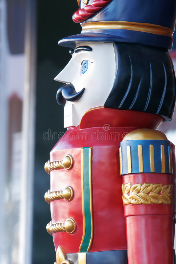 Wooden soldier detail royalty free stock photo