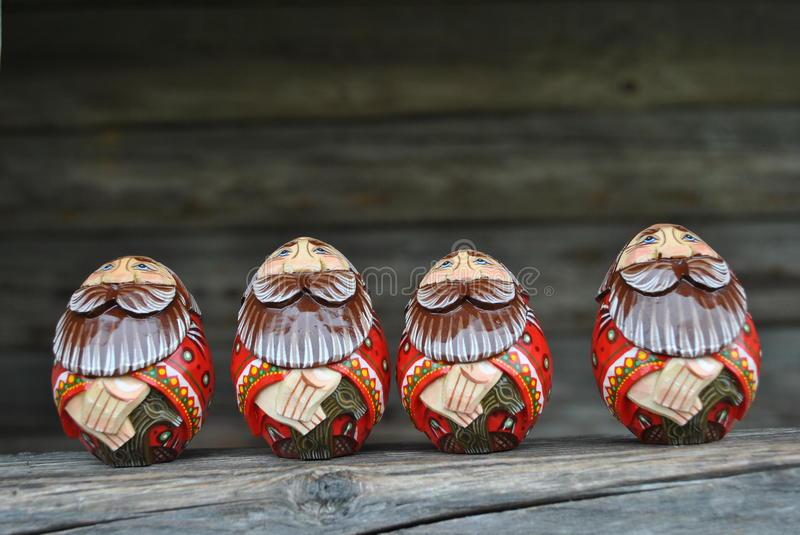 Wooden souvenirs of handwork stock photo