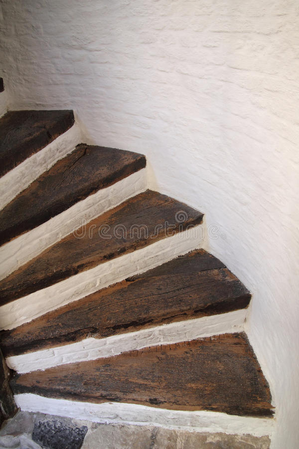 Download Wooden spiral stairs stock image. Image of steps, window - 19437359