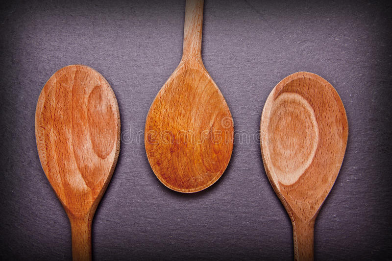 Wooden spoon art. stock image