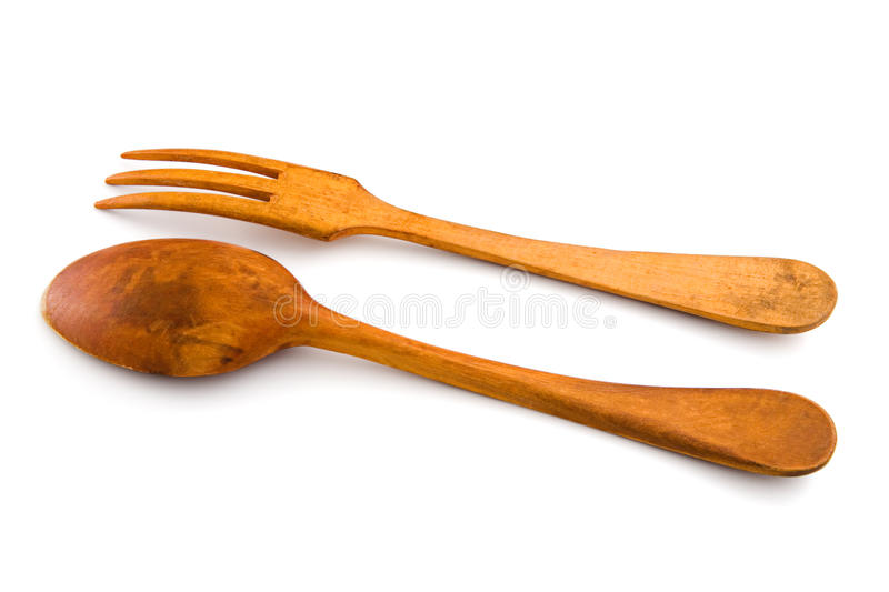 Download Wooden Spoon And Fork. Isolated, With Clipping Stock Image - Image: 12913549