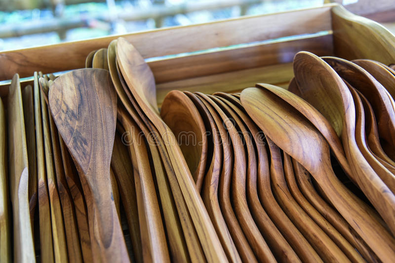 Wooden spoon. New many wooden spoon For Sell royalty free stock photos