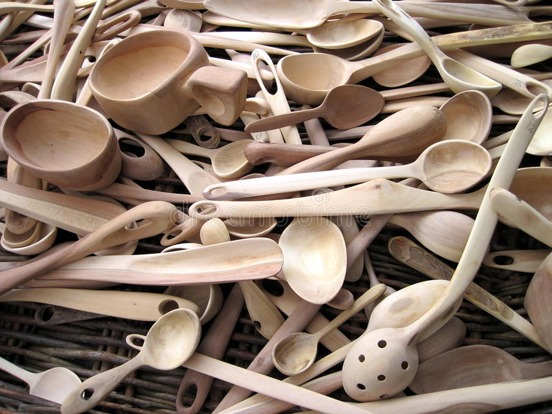 Download Wooden spoons stock photo. Image of artistic, surface - 24112530