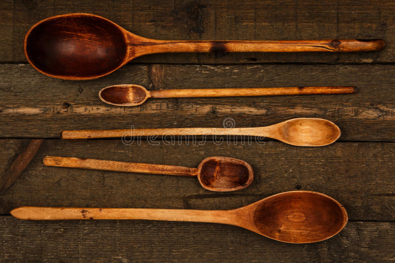 Wooden spoons utensils royalty free stock photography
