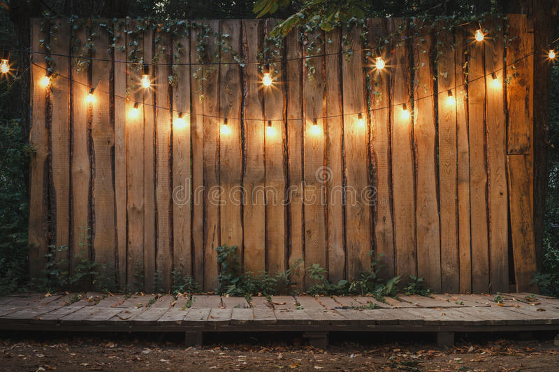 Wooden Stage In The Garden Stock Image Image Of Patio