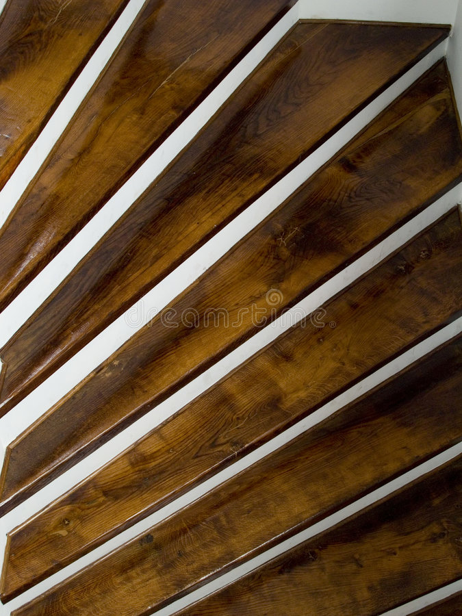 Wooden staircase. In an 300 year old building royalty free stock image