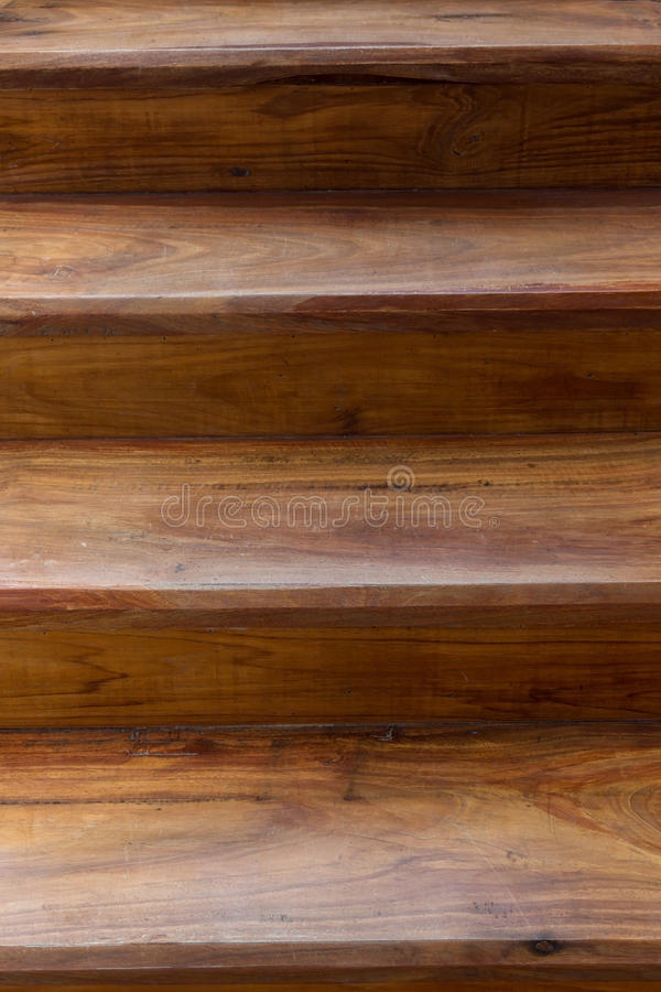 Wooden staircase. Brown wooden staircase made wood laminate plank in modern house stock photography
