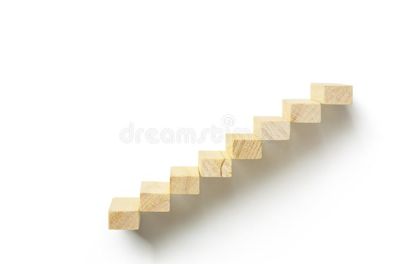 Wooden staircase royalty free stock photos