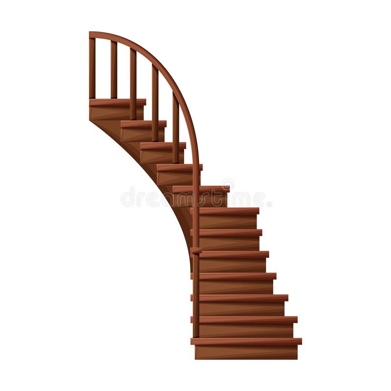 Wooden Staircase Vector Icon Cartoon Vector Icon Isolated On White Background Wooden Staircase Stock Vector Illustration Of Icon Contemporary 164151577