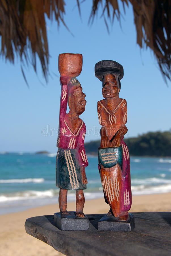 Download Wooden statuettes stock image. Image of blue, destination - 13273979