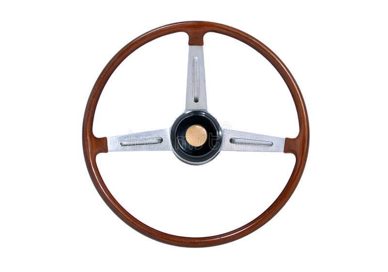 Download Wooden Steering Wheel stock image. Image of avenue, classic - 15242979