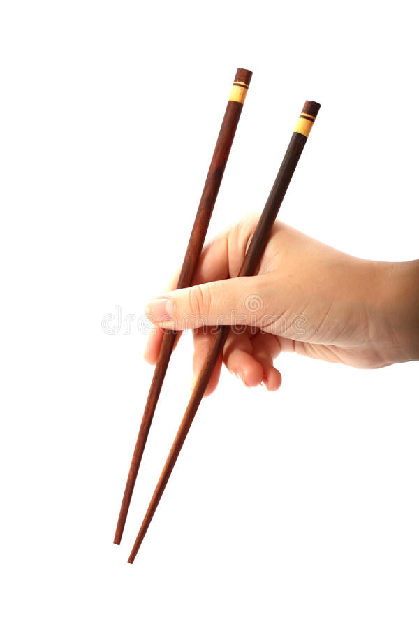 Wooden sticks in hand stock image
