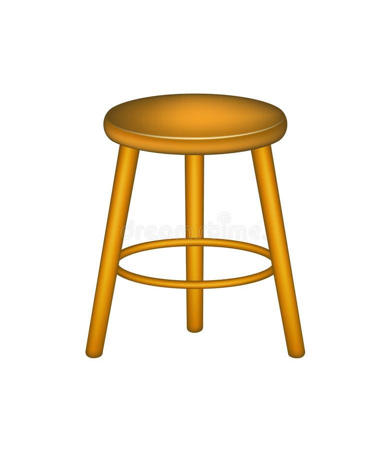 Wooden stool royalty free illustration
