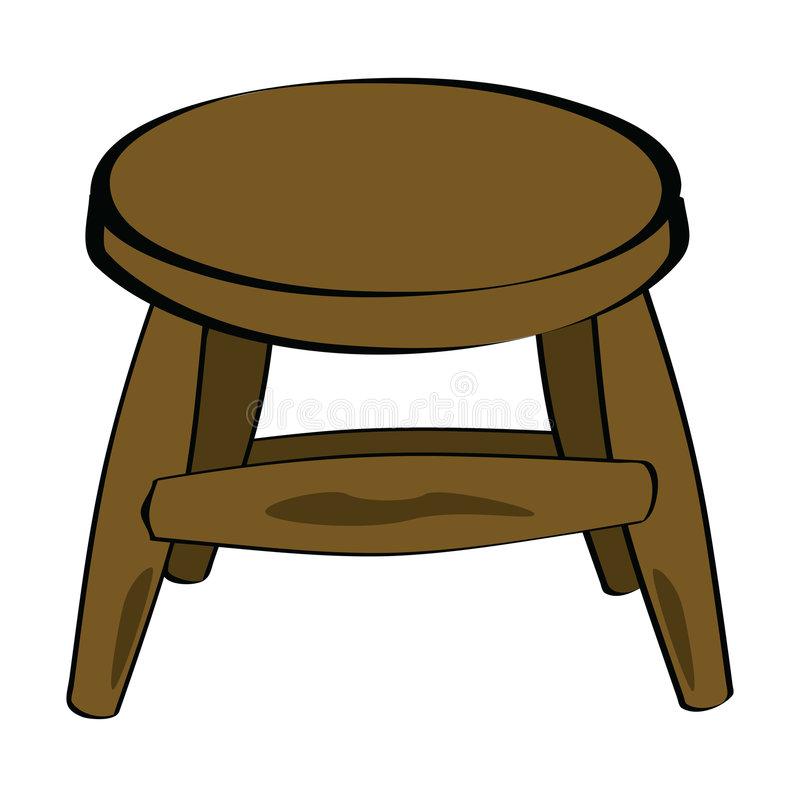 Wooden Stool Stock Vector Image Of Draw Trendy Retail