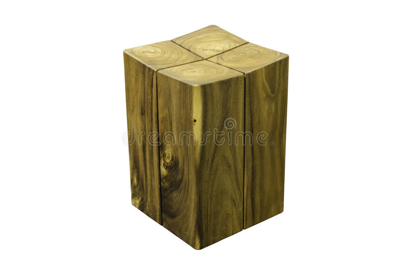 Wooden stool isolated on white background with clipping path. royalty free stock photography