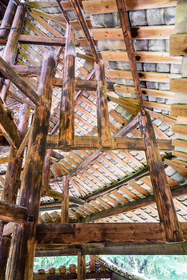 wooden storied building stock photos