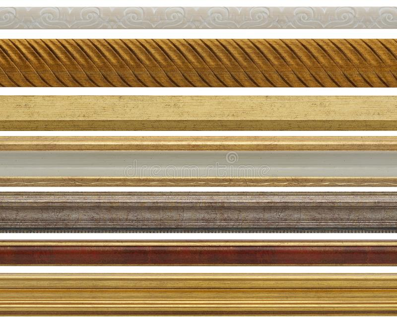 Wooden strips on white royalty free stock images