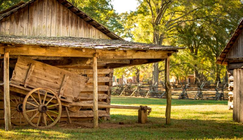 Wooden Structure in Park royalty free stock photo