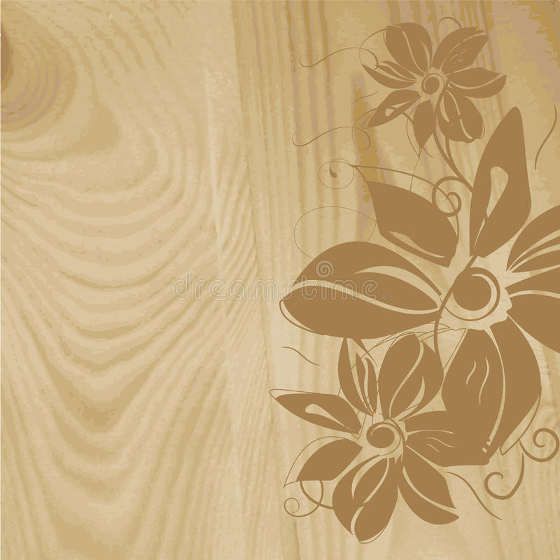 Free Wooden Structure With Flower Pattern Royalty Free Stock Photography - 18882287