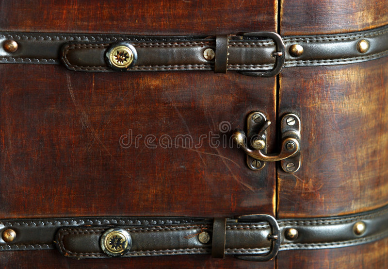 Wooden suitcase royalty free stock photography
