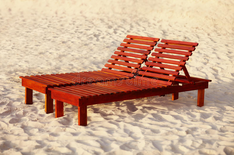 Download Wooden sunbed stock photo. Image of holiday, chair, real - 21769626